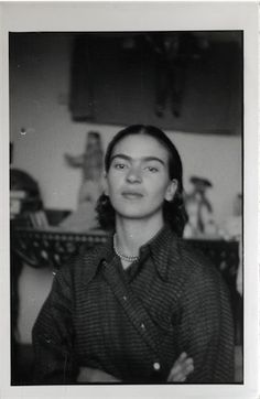 Portrait of Frida Kahlo found in Isamu Noguchi's archives, ca. 1930s. In all likelihood, this photo was taken by Noguchi during the time he was working on his commission at the Mercado Abelardo Rodrigues in Mexico City in 1936. The pair stayed in touch throughout the 1940s, when Frida made occasional visits to New York for treatments for her ongoing ailments. A framed collection of butterflies hangs above Frida's bed in the Casa Azul in Mexico City, a gift from Noguchi. The ...