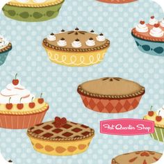 Confections Berry Assorted Pies Yardage SKU# 12024-233