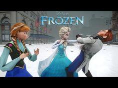 Elsa y Ana de Frozen en Biquini DaDaDa [Frozen] Kids songs - YouTube