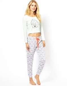 Image 1 of River Island Cup Cake Jersey PJ Set