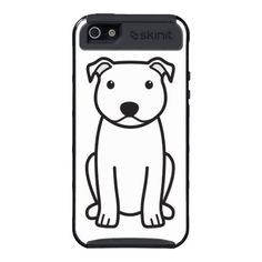 Staffordshire Bull Terrier Dog Cartoon Cover For iPhone 5