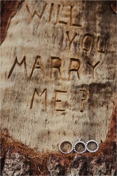 will you marry me carving proposal #proposal #wedding #weddingchicks http://www.weddingchicks.com/2014/02/11/blue-and-coral-backyard-wedding/
