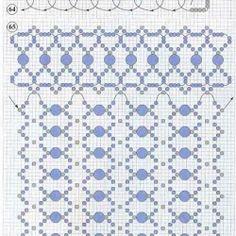 схема синей сумочки из бисера