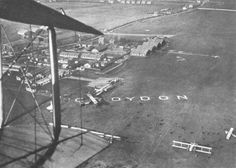 "Croydon was London's airport, and the following photos show the first steps in London's aviation journey. The first photo is titled ""The Air Port of London As It Was In 1925"" and is captioned:  ""The official designation of the great aerodrome is ""The Air Port Of London"" though it is popularly known as the Croydon, or Waddon aerodrome for it is included in the latter parish"""