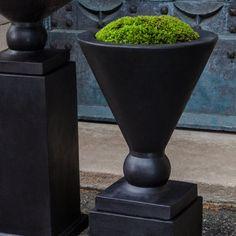 Campania International Manhattan Small Urn Cast Stone Planter