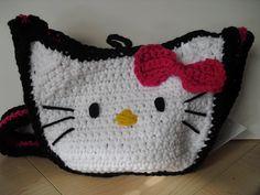 Hello Kitty crochet messenger bag