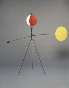 From Calder Foundation, Alexander Calder, Mobile for the Open Air 69 × 80 × 28 in Abstract Sculpture, Sculpture Art, Alexander Calder Sculptures, Alexandre Calder, Mobile Art, Hanging Mobile, Hanging Art, Kinetic Art, Art Abstrait