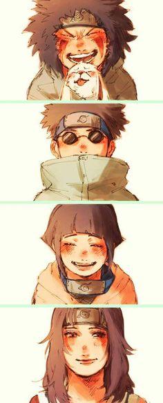 Naruto Equipo 8 Kurenai Hinata Shino Kiba Akamaru