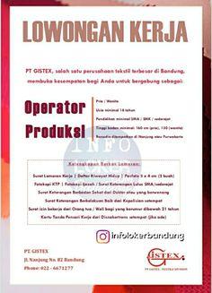 Lowongan Kerja PT. Gistex Bandung April 2018