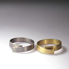 Narrow Coiled Wedding Ring