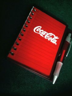 Coca Cola notebook...