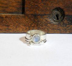 Moonstone Stacking Ring by StudioJewellerybyJo on Etsy, £58.00