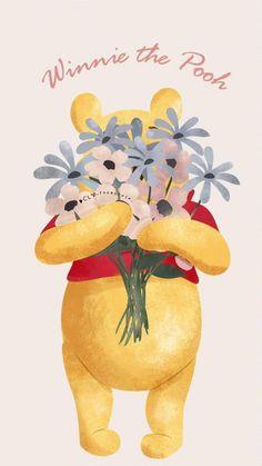 Winnie The Pooh Drawing, Winnie The Pooh Pictures, Winne The Pooh, Cute Winnie The Pooh, Winnie The Pooh Quotes, Winnie The Pooh Friends, Cool Backgrounds Wallpapers, Cute Cartoon Wallpapers, Wallpaper Iphone Disney