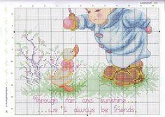 Always be friends cross stitch 3