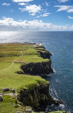 Lighthouse at Neist Point, Isle of Skye, Scotland.