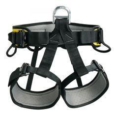 Petzl FALCON schwarz/gelb  Leichter, komfortabler und widerstandsfähiger Sitz- und Haltegurt