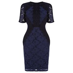 Buy Oasis Lace Patched Dress, Navy Online at johnlewis.com