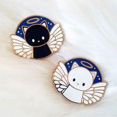 Angel Kitty Enamel Pin by Cynthia Tizcareno