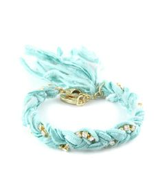 Ettika Braided Vintage Turquoise Ribbon Bracelet...this beautiful!