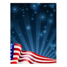 American Flag Background Design Postcard - veterans day us patriot holiday usa vets