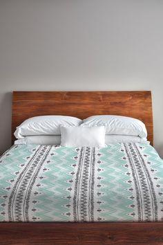 Anya Stripes & Dots Duvet Cover - White/Aqua/Gray by Lightning E-Commerce on @HauteLook
