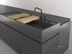 Fitted kitchen with island BOFFI_CODE KITCHEN by Boffi design Piero Lissoni