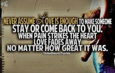 Quotes about when pain strikes the heart