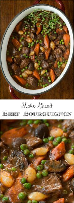 Make Ahead Beef Bourguignon #makeahead #beefbourguinon #holidayfood #beef