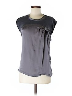 Ann Taylor LOFT Women Short Sleeve Silk Top Size M