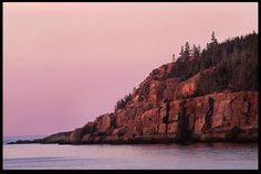 "Visual Bible #VerseoftheDay: Sunrise Hits the Otter Cliffs of Acadia National Park, Maine and Psalm 108:4-5. ""For Your lovingkindness is great above the heavens, and Your truth reaches to the skies.…"" http://visualverse.thecreationspeaks.com/be-exalted/"