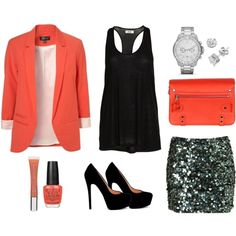 Loving coral at the moment and especially this sequin skirt!