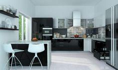 Siyah Akrilik Mutfak Modelleri