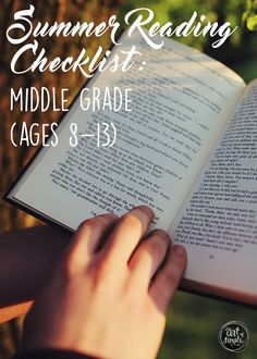 Summer Reading Checklist for Middle Grades (ages 8-13). Great books for both boys and girls
