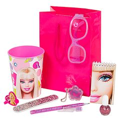 This Barbie All Doll'd Up Favor Pack is full of fun surprises little girls will love. Have a fun fashion show getting All Doll'd Up with these items!