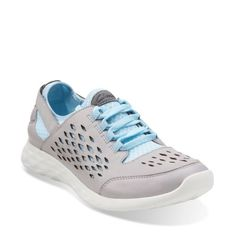 Seremene Lace Light Grey Leather - Womens Shoes - Womens Active Shoes - Clarks® Shoes