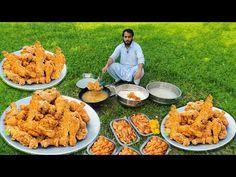 KING of Fried Chicken / 100 KFC Chicken Legs / 100K KUN Foods (donated) - YouTube Chicken Leg Recipes, Chicken Legs, Cooking Recipes In Urdu, Indian Food Recipes, Ethnic Recipes, Kfc, Fried Chicken, Paella, Roast