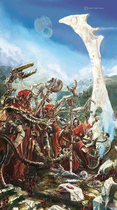 40k - Dark Heresy (Mechanicum and an Eldar warpgate) by ~Yogh-Art on deviantART