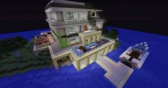 Island Modern House Minecraft Project