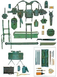 """Personal Equipment, US Army M56 and M67 Patterns""                              …"
