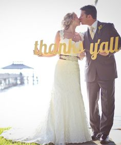 Look at this #zulilyfind! Yellow 'Thanks Y'all' Sign #zulilyfinds items for a southern country wedding