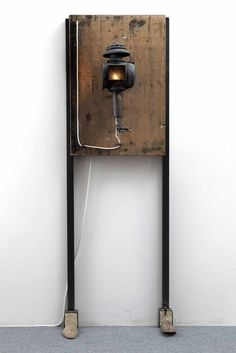 COMBINATION – TIMELESS / PART 1 1870 – 2015 / ATR 1942  Size: iron – wood – glass – light Mixed media: 64 x 180 x 34 cm Maurizio Di Feo