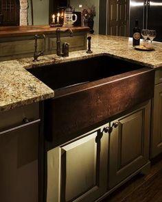 Apron-Style Copper Kitchen Sink
