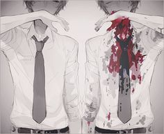 Imagen de anime, blood, and boy