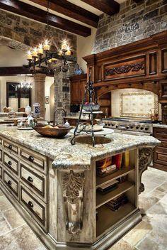 Elegant Kitchens, Luxury Kitchens, Beautiful Kitchens, Tuscan Kitchens, Contemporary Kitchens, Dream Kitchens, Contemporary Bedroom, Small Kitchens, Contemporary Design