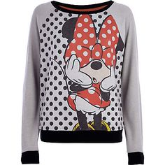 Grey Minnie Mouse sweat top - pyjamas / loungewear - loungewear / onesies - women