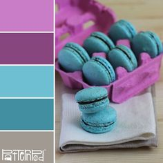 Macaroon - purples and turquoise blue patternpod #color #scheme #inspiration