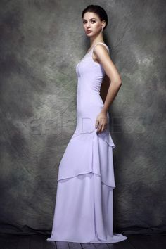 Teried A-line Scoop Beads Floor-length Polina's Mother of the Bride Dress 3