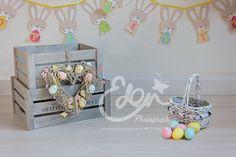 Digital Download Backdrop Easter & Movable Basket  by EdenMedia1