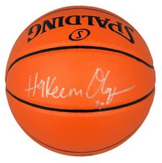 4f59450ece4 Hakeem Olajuwon Autographed Basketball - JSA Witness  SportsMemorabilia   HoustonRockets