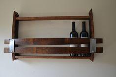 Wine Rack 7 bottle Wine Barrel rack by BarrelsAndBarnWood on Etsy